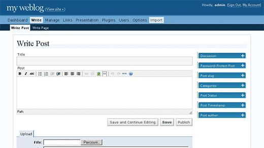 wordpress نسخه 2.0