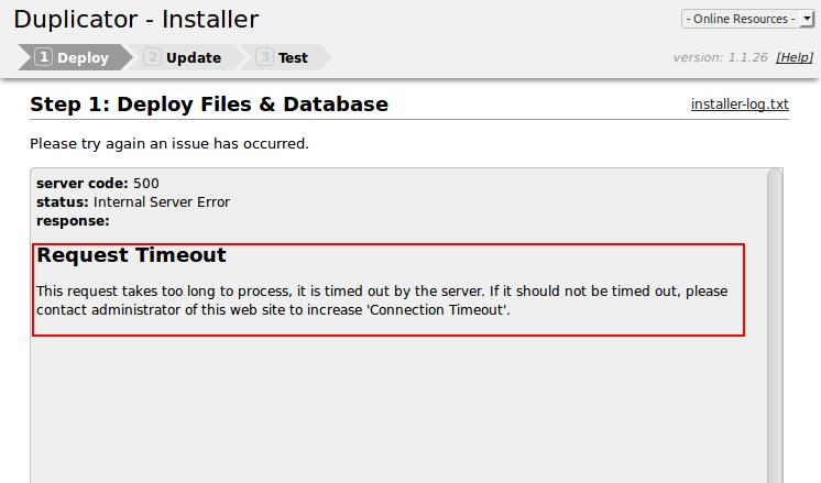رفع خطای 500 نصب بسته نصبی وردپرس