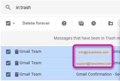 نحوه اتصال ایمیل دایرکت ادمین به جیمیل