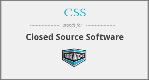 closed source software