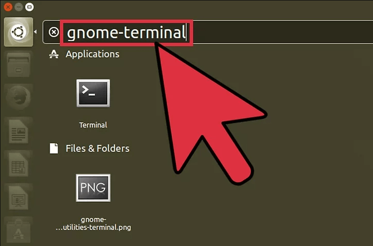 access terminal and shell linux with search applications